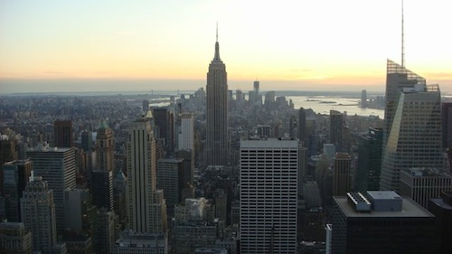 New York, looking downtown from the Rockefeller Center Observation Deck